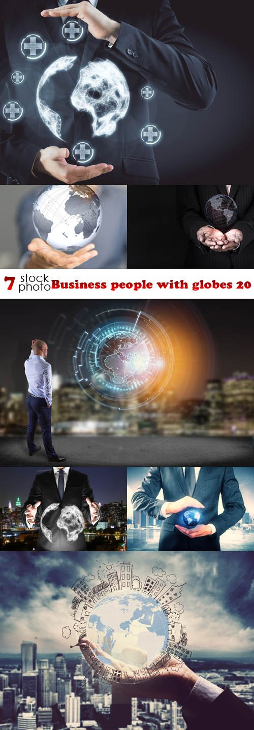 Photos - Business people with globes 20