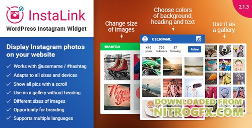 CodeCanyon - InstaLink v2.1.3 - Instagram Widget - WordPress Plugin for Instagram - 11170758