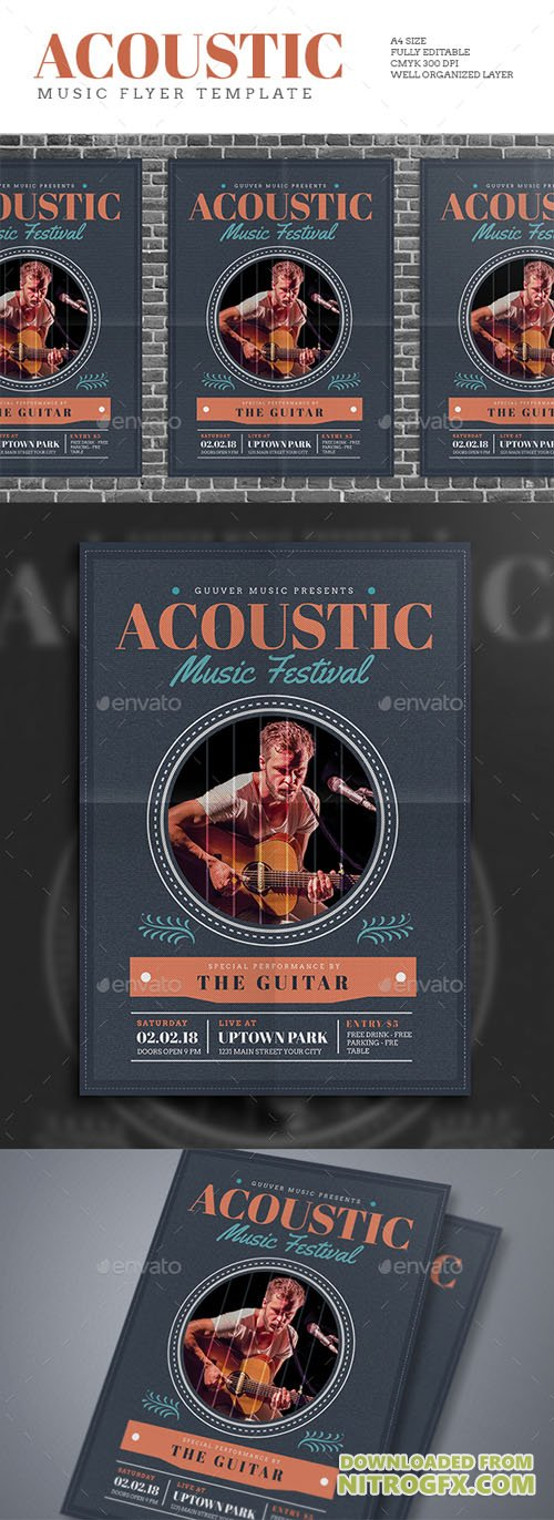 Acoustic Music Flyer 15859738