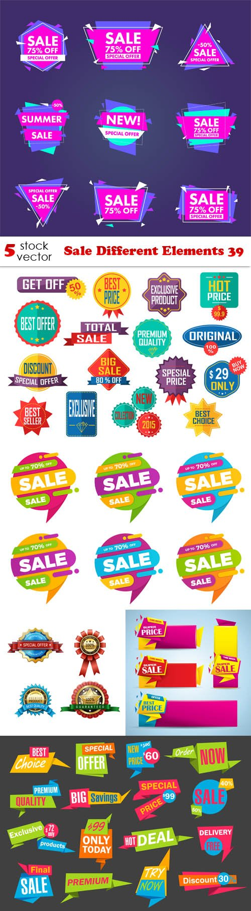 Vectors - Sale Different Elements 39