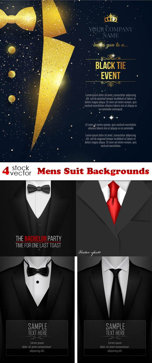 Vectors - Mens Suit Backgrounds