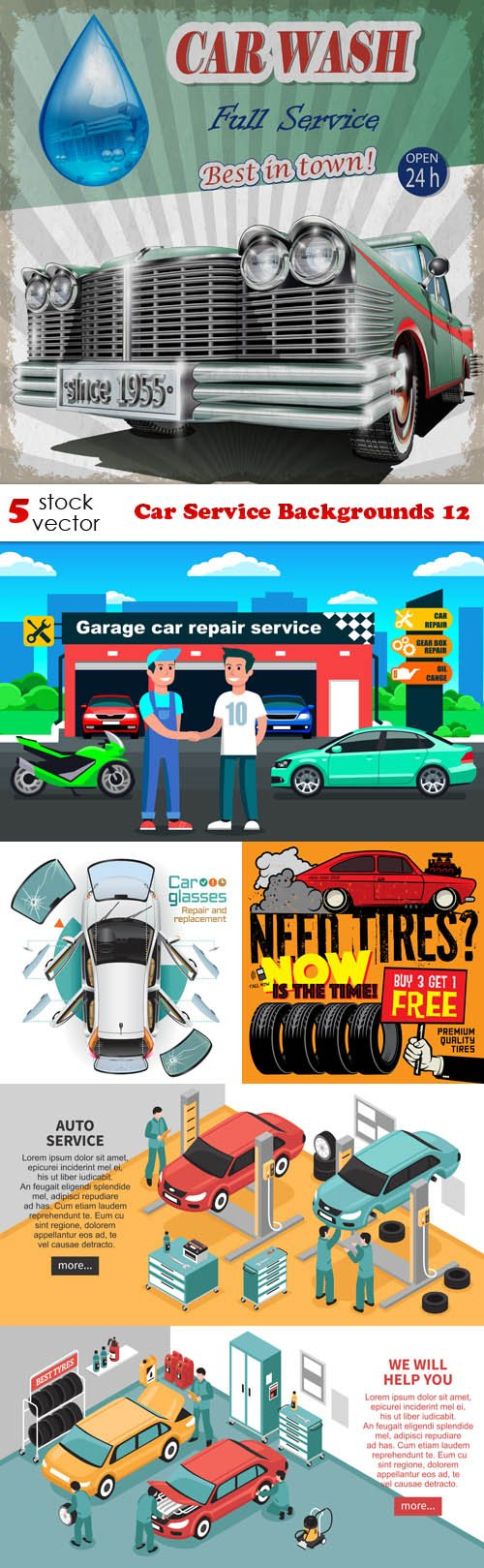 Vectors - Car Service Backgrounds 12