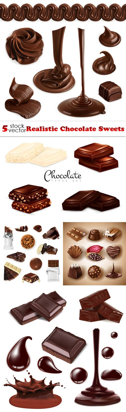 Vectors - Realistic Chocolate Sweets