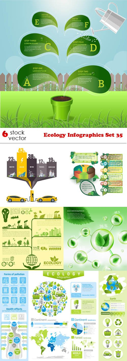 Vectors - Ecology Infographics Set 35