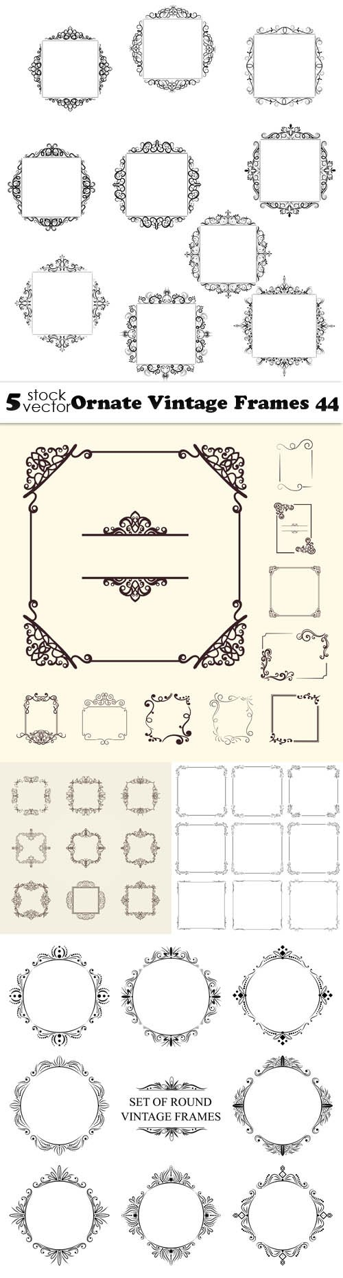 Vectors - Ornate Vintage Frames 44