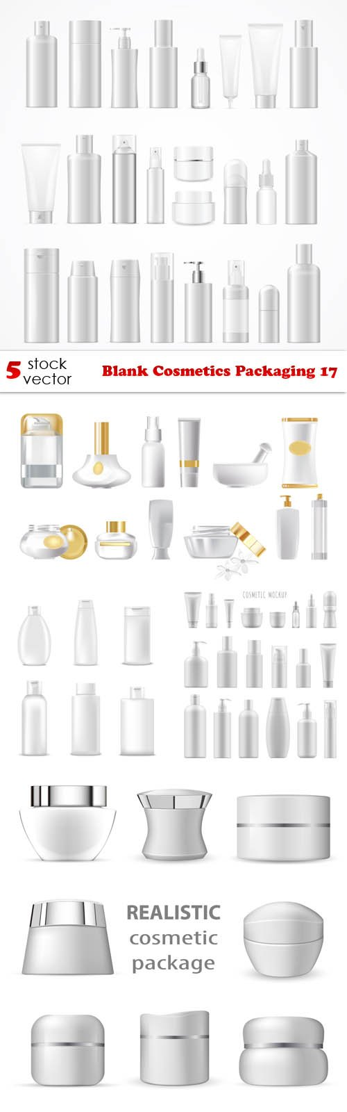 Vectors - Blank Cosmetics Packaging 17