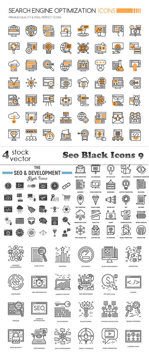 Vectors - Seo Black Icons 9