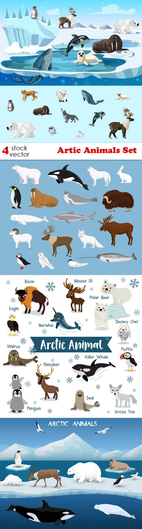 Vectors - Artic Animals Set