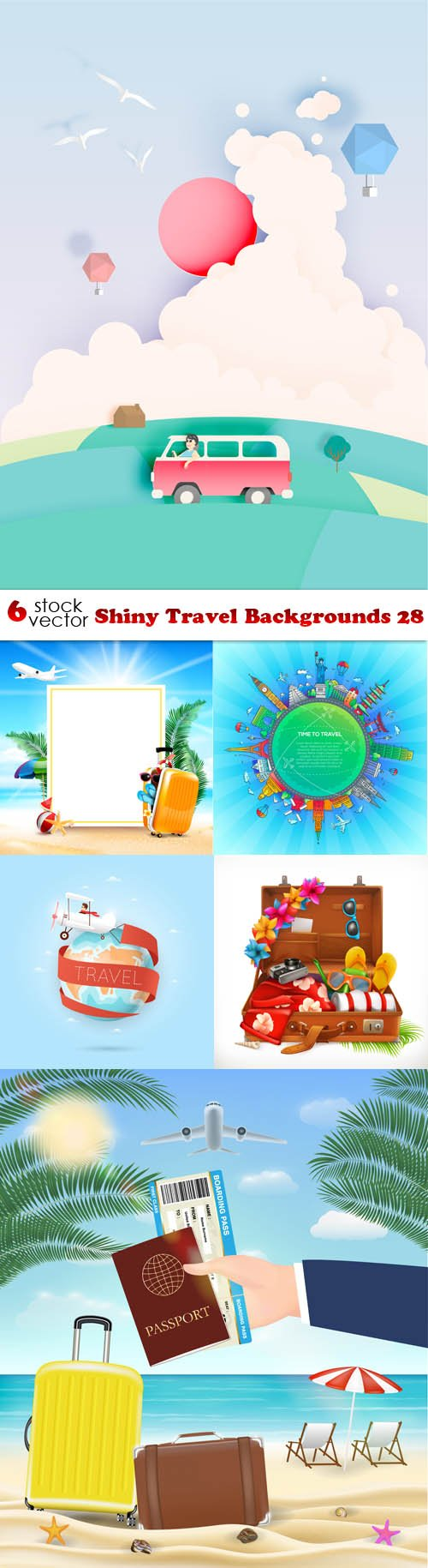 Vectors - Shiny Travel Backgrounds 28