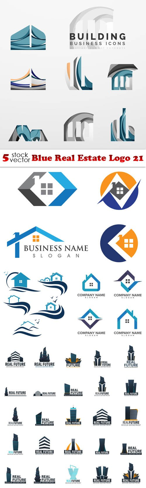 Vectors - Blue Real Estate Logo 21