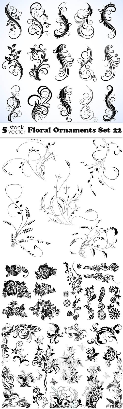 Vectors - Floral Ornaments Set 22