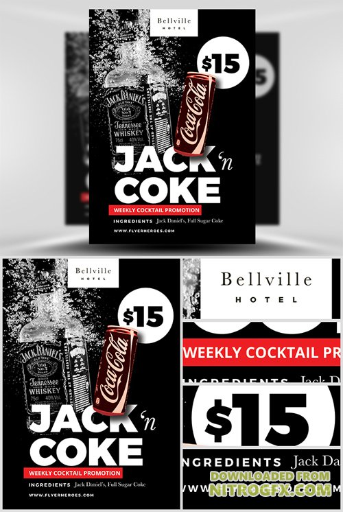 Flyer Template - Jack and Coke