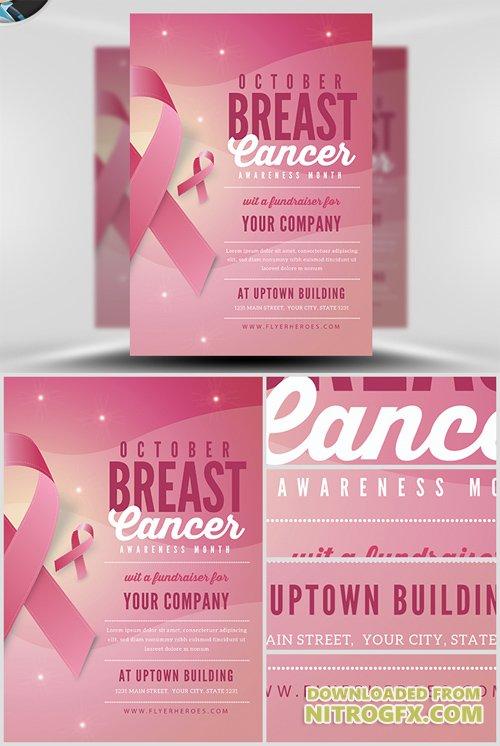 Flyer Template Breast Cancer Awareness Month V2