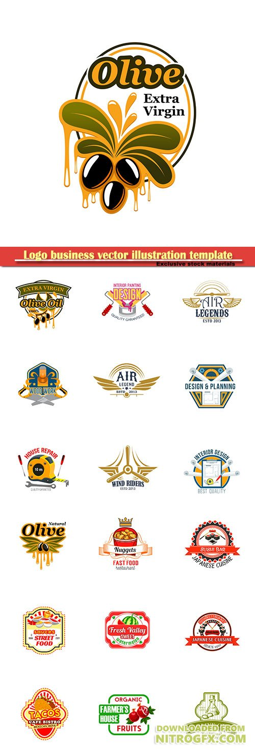 Logo business vector illustration template # 72