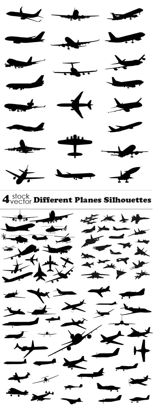 Vectors - Different Planes Silhouettes