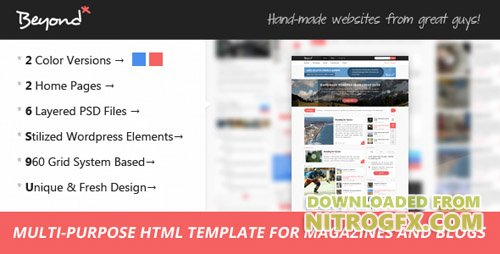 ThemeForest - Beyond - Multi-purpose HTML Template (Update: 29 August 17) - 6320149