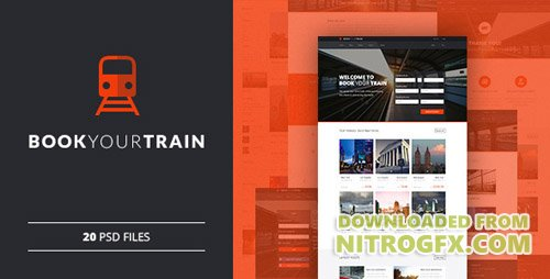 ThemeForest - Book Your Train v1.0 - Online Booking PSD Template - 11431825