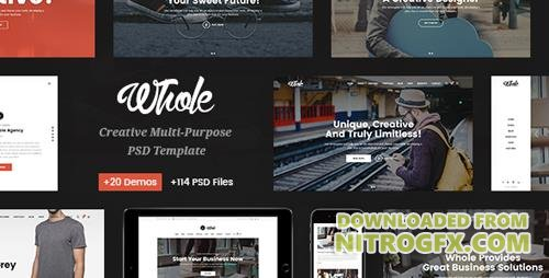 ThemeForest - Whole v1.0 - Responsive Business Multi-Purpose PSD Template - 20569947