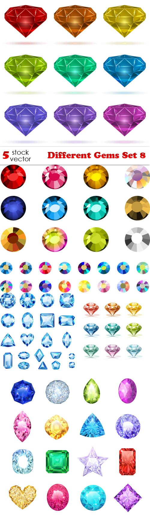 Vectors - Different Gems Set 8