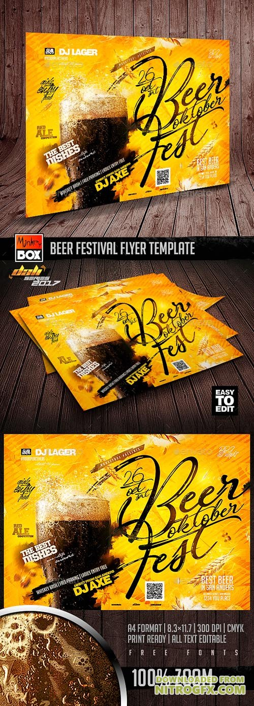 Beer Festival Flyer Template 20693123