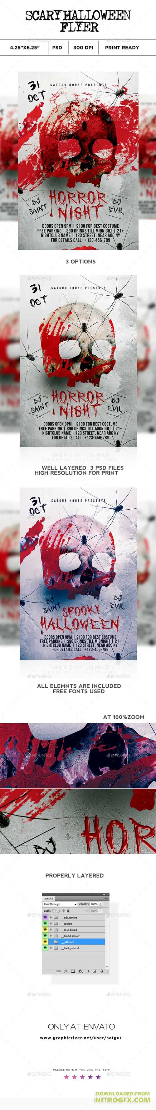 Scary Halloween Flyer V2 20693087