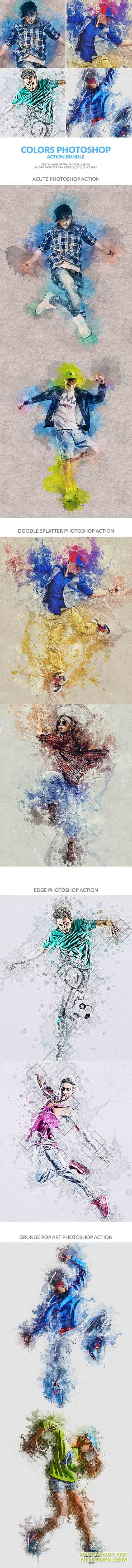 GraphicRiver - Colors Photoshop Action Bundle 20650570