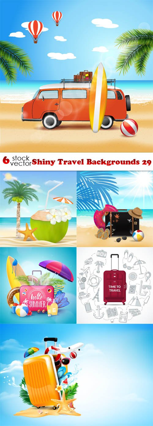 Vectors - Shiny Travel Backgrounds 29