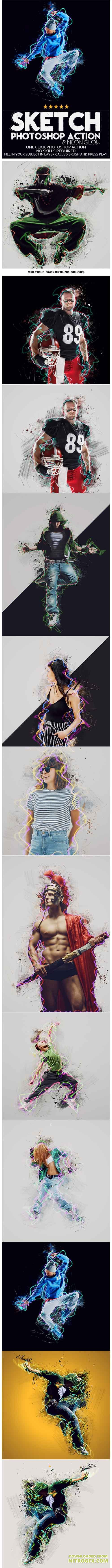 GraphicRiver - Sketch Photoshop Action 20652201