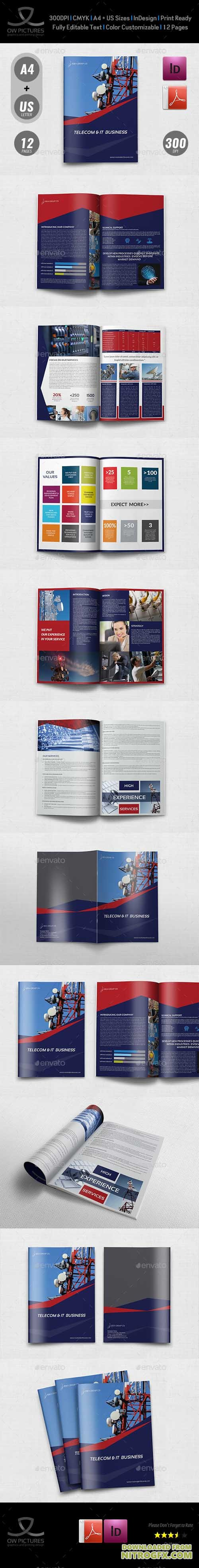 GraphicRiver - Telecom Services Brochure Template - 12 Pages 20657630