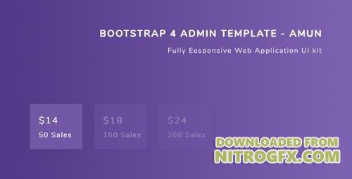 ThemeForest - Bootstrap 4 Admin Template - Amun v1 0 - 19648333