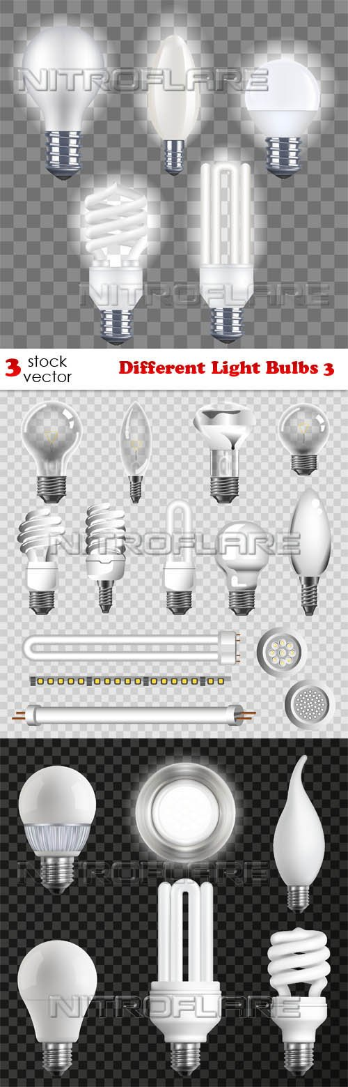 Vectors - Different Light Bulbs 3