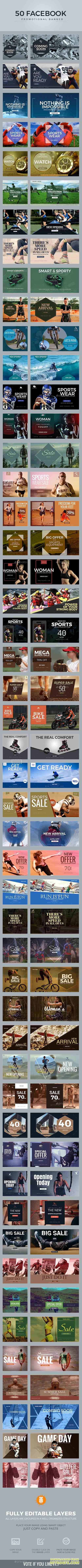GraphicRiver - 100 Sport Facebook Banners 20690440