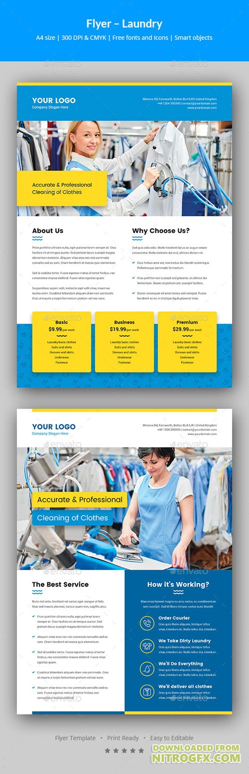laundry flyers templates - flyer laundry service 20692925 nitrogfx download