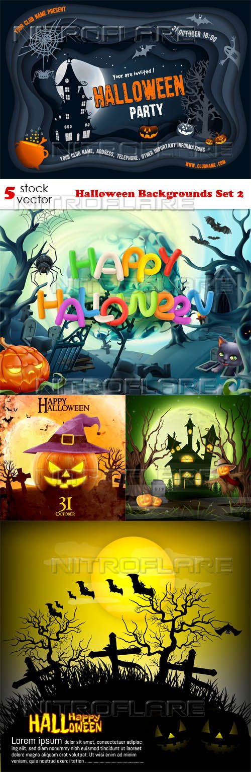 Vectors - Halloween Backgrounds Set 2