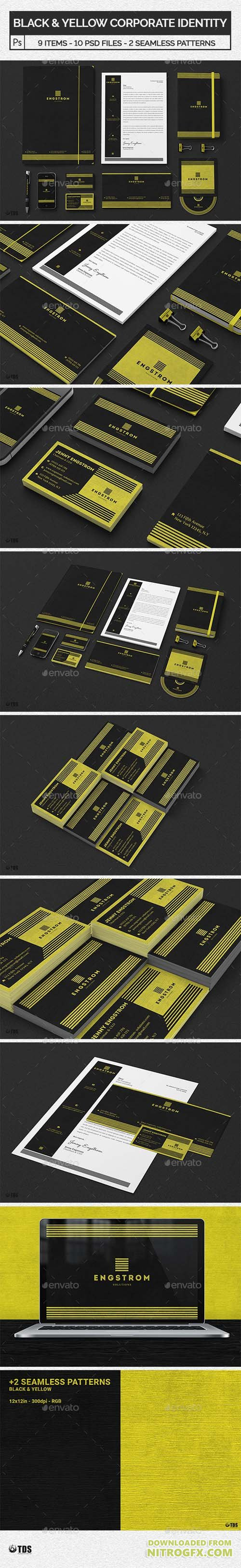 Black and Yellow Corporate Identity Template 20738613