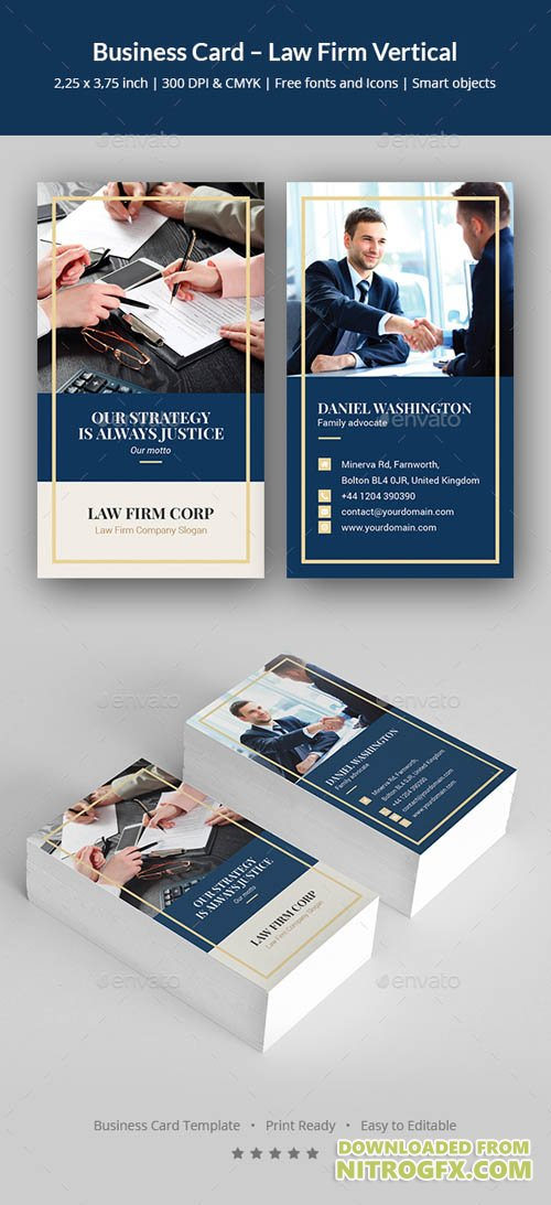 Business Card – Law Firm Vertical 20708432