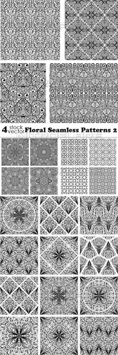 Vectors - Floral Seamless Patterns 2