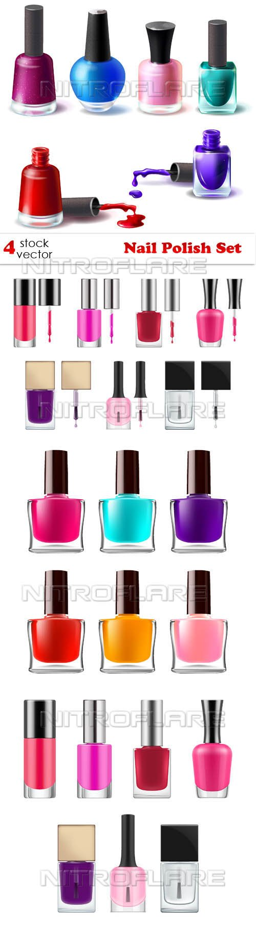 Vectors - Nail Polish Set