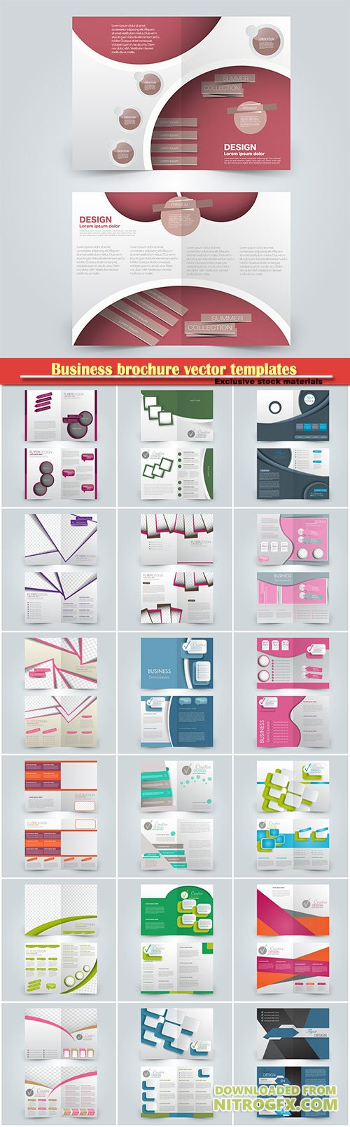 Business brochure vector templates, magazine cover, business mockup, education, presentation, report # 57