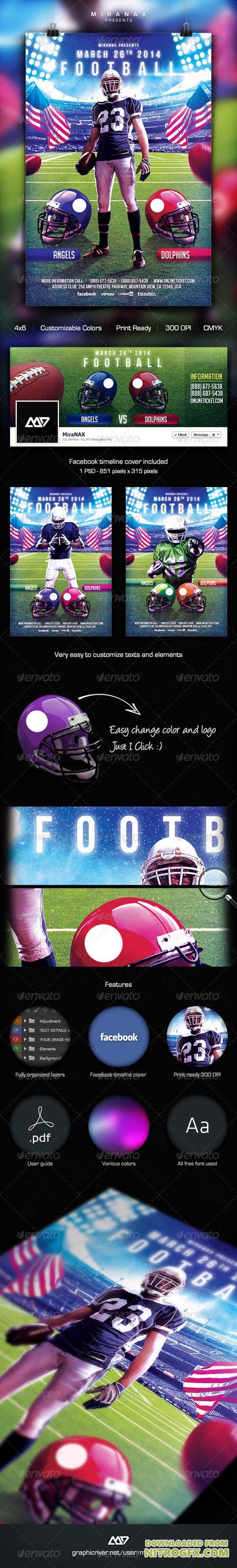 College Football Flyer Template 6470912