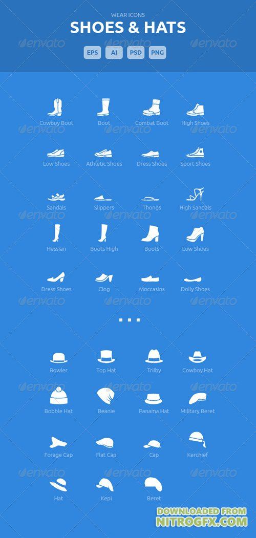 Wear Icons - Shoes & Hats Vector Pack 5540243