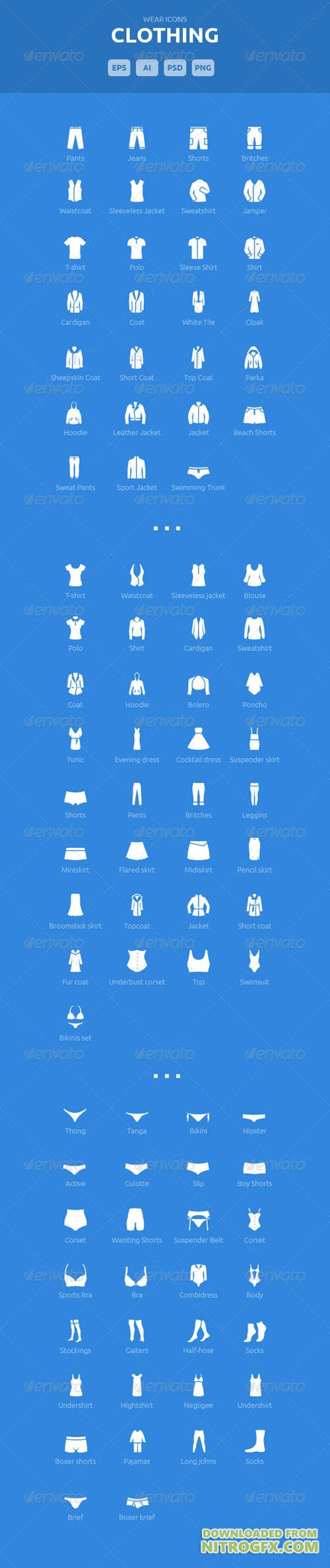 Wear Icons - Clothing Vector Pack 5578044