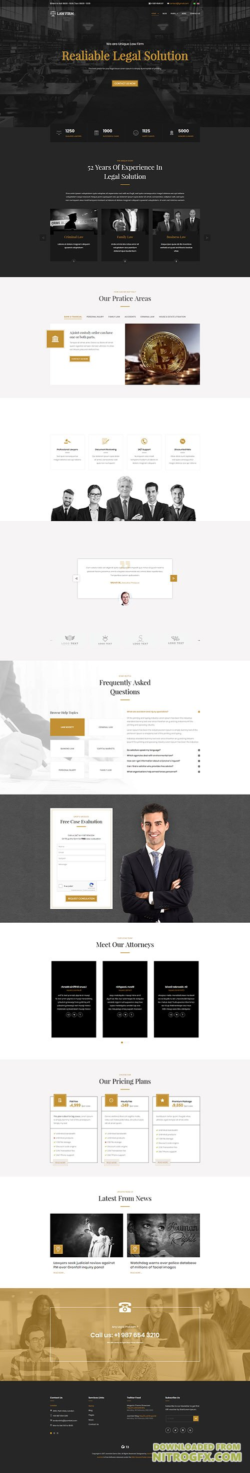 JoomlArt - JA Law Firm v1.0.0 - Best Joomla template for lawyer and business websites