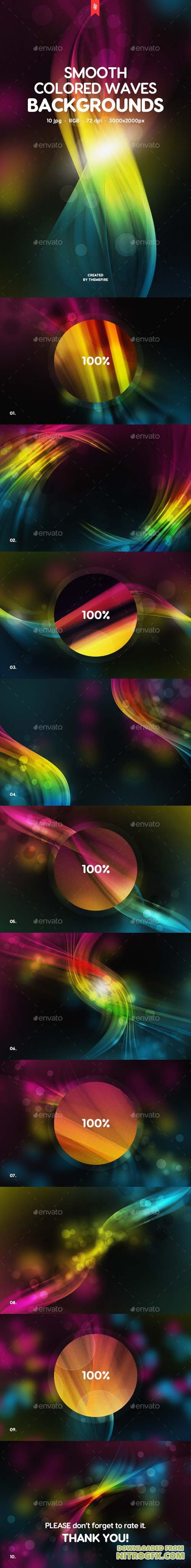 Smooth Colored Waves Backgrounds 7871908