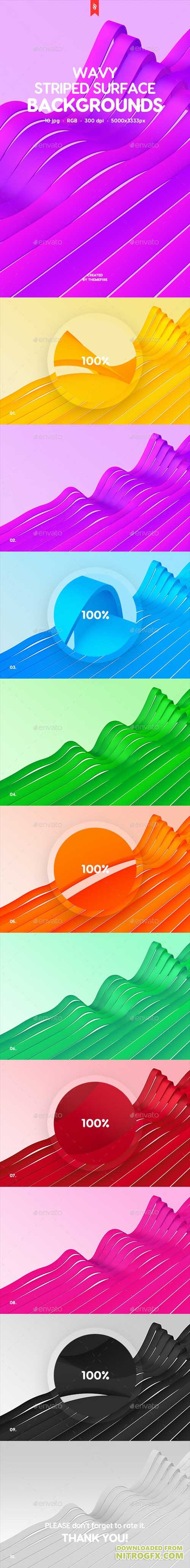 Wavy Striped Surface Backgrounds 20740358