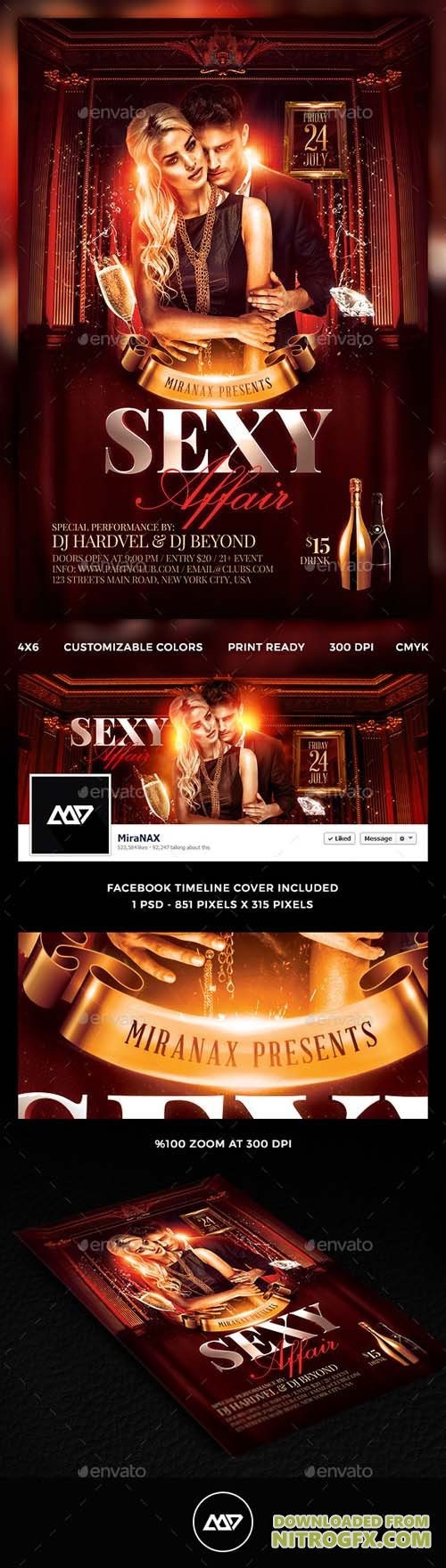 GR - Sexy Affair Flyer Template PSD 11710523