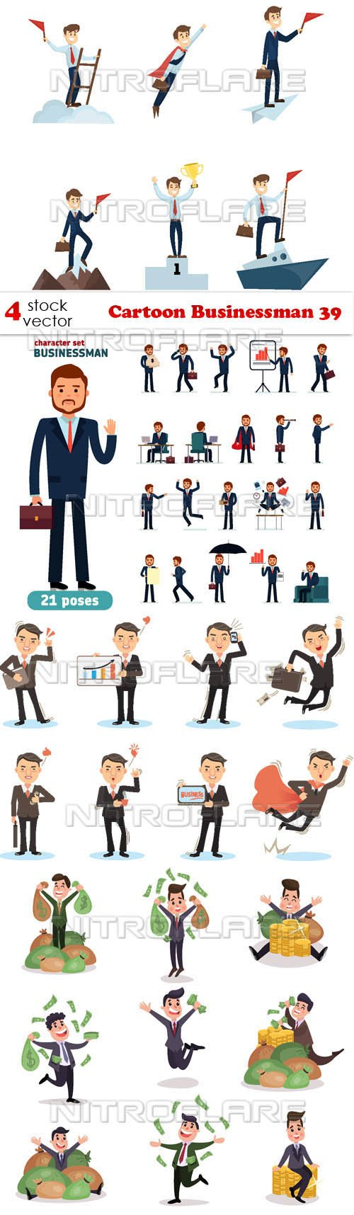 Vectors - Cartoon Businessman 39