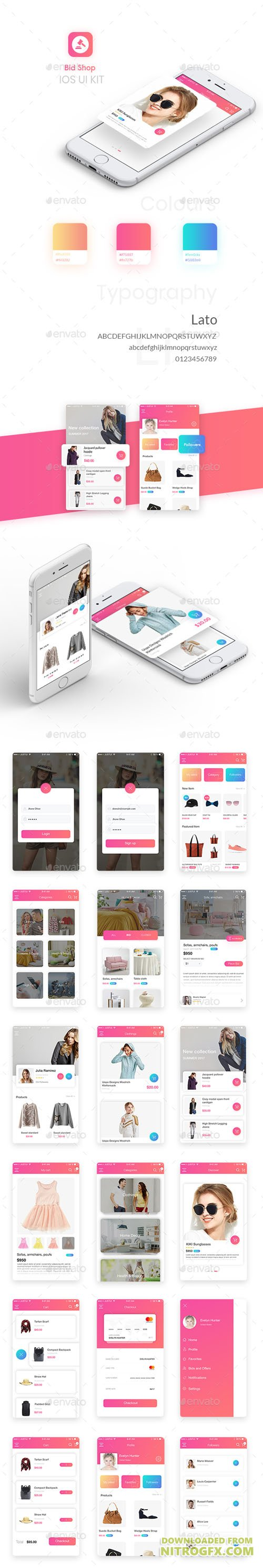 Bid Shop UI KIT 20698656