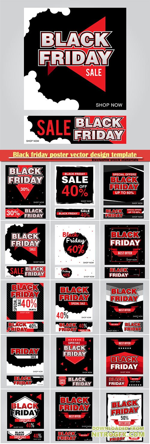Black friday poster vector design template