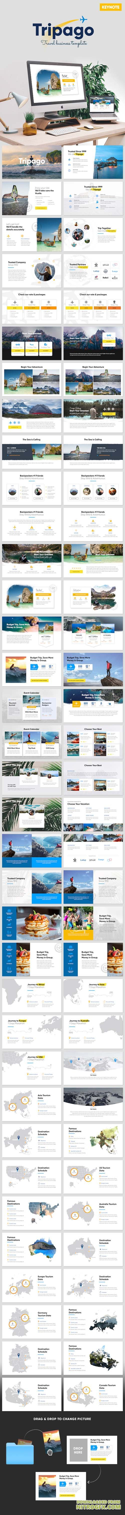 Tripago - Travelling Business Keynote Template 20758016